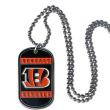 Cincinnati Bengals Dog Tag Necklace NFL Football FTN010