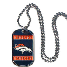 Denver Broncos Dog Tag Necklace NFL Football FTN020