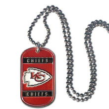 Kansas City Chiefs Dog Tag Necklace NFL Football FTN045