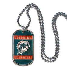 Miami Dolphins Dog Tag Necklace NFL Football FTN060
