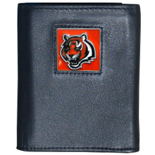 Cincinnati Bengals Black Trifold Wallet NFL Football FTR010