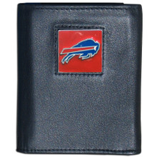 Buffalo Bills Black Trifold Wallet NFL Football FTR015