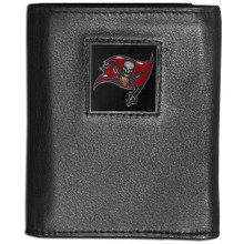 Tampa Bay Buccaneers Black Trifold Wallet NFL Football FTR030