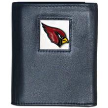 Arizona Cardinals Black Trifold Wallet NFL Football FTR035