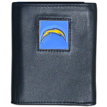 San Diego Chargers Black Trifold Wallet NFL Football FTR040