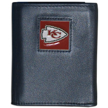 Kansas City Chiefs Black Trifold Wallet NFL Football FTR045