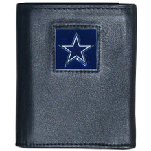 Dallas Cowboys Black Trifold Wallet NFL Football FTR055