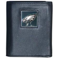 Philadelphia Eagles Black Trifold Wallet NFL Football FTR065