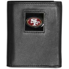 San Francisco 49ers Black Trifold Wallet NFL Football FTR075