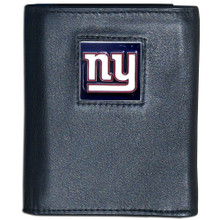 New York Giants Black Trifold Wallet NFL Football FTR090