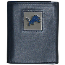 Detroit Lions Black Trifold Wallet NFL Football FTR105