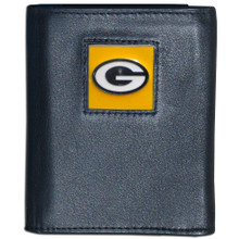 Green Bay Packers Black Trifold Wallet NFL Football FTR115