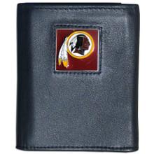 Washington Redskins Black Trifold Wallet NFL Football FTR135