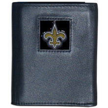 New Orleans Saints Black Trifold Wallet NFL Football FTR150