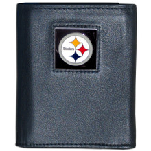 Pittsburgh Steelers Black Trifold Wallet NFL Football FTR160