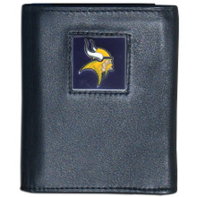 Minnesota Vikings Black Trifold Wallet NFL Football FTR165