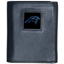 Carolina Panthers Black Trifold Wallet NFL Football FTR170