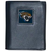 Jacksonville Jaguars Black Trifold Wallet NFL Football FTR175