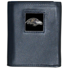 Baltimore Ravens Black Trifold Wallet NFL Football FTR180