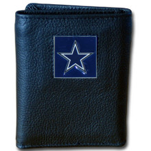 Dallas Cowboys Leather Trifold Wallet with Nylon Liner NFL Football FTRN055