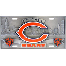 Chicago Bears 3D License Plate NFL Football FVP005