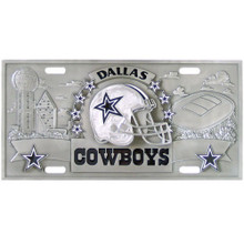 Dallas Cowboys 3D License Plate NFL Football FVP055