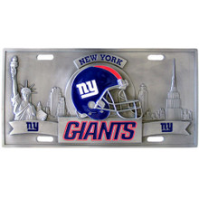 New York Giants 3D License Plate NFL Football FVP090