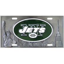 New York Jets 3D License Plate NFL Football FVP100