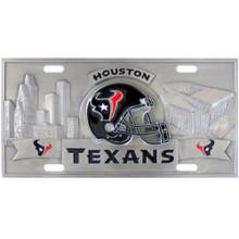 Houston Texans 3D License Plate NFL Football FVP190