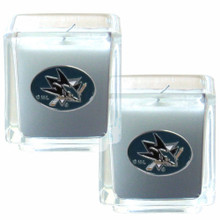 San Jose Sharks Vanilla Candle Set NHL Hockey H2CD115