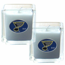 St. Louis Blues Vanilla Candle Set NHL Hockey H2CD15