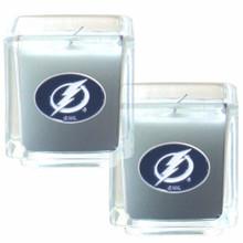 Tampa Bay Lightning Vanilla Candle Set NHL Hockey H2CD80