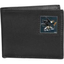 San Jose Sharks Black Bifold Wallet NHL Hockey HBI115