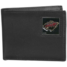 Minnesota Wild Black Bifold Wallet NHL Hockey HBI145