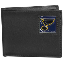 St. Louis Blues Black Bifold Wallet NHL Hockey HBI15