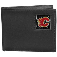 Calgary Flames Black Bifold Wallet NHL Hockey HBI60