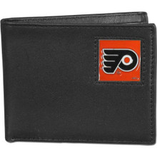 Philadelphia Flyers Black Bifold Wallet NHL Hockey HBI65
