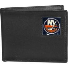 New York Islanders Black Bifold Wallet NHL Hockey HBI70