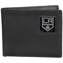 Los Angeles Kings Black Bifold Wallet NHL Hockey HBI75