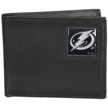 Tampa Bay Lightning Black Bifold Wallet NHL Hockey HBI80