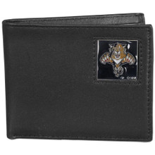 Florida Panthers Black Bifold Wallet NHL Hockey HBI95