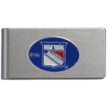 New York Rangers Brushed Money Clip NHL Hockey HBMC105