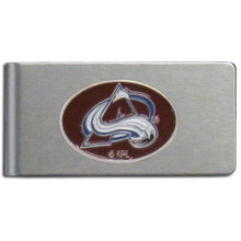 Colorado Avalanche Brushed Money Clip NHL Hockey HBMC5