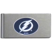 Tampa Bay Lightning Brushed Money Clip NHL Hockey HBMC80