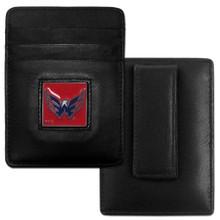 Washington Capitals Leather Money Clip Card Holder Wallet NHL Hockey HCH150