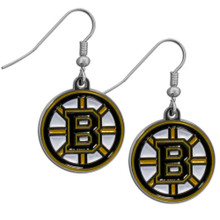 Boston Bruins Chrome Dangle Earrings NHL Hockey HDE20N