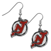 New Jersey Devils Chrome Dangle Earrings NHL Hockey HDE50N