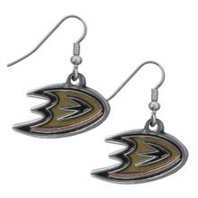 Anaheim Ducks Chrome Dangle Earrings NHL Hockey HDE55N