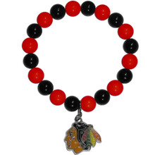 Chicago Blackhawks Fan Bead Bracelet NHL Hockey HFBB10