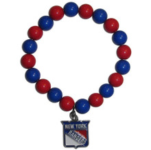 New York Rangers Fan Bead Bracelet NHL Hockey HFBB105